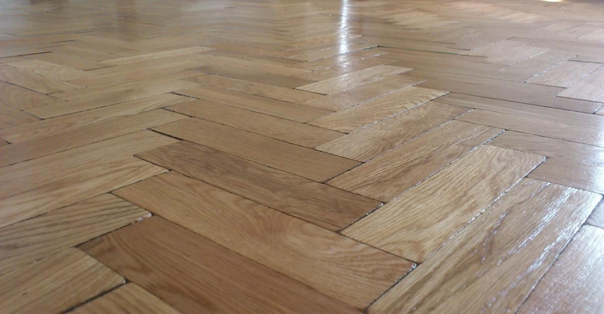 European oak parquet floor