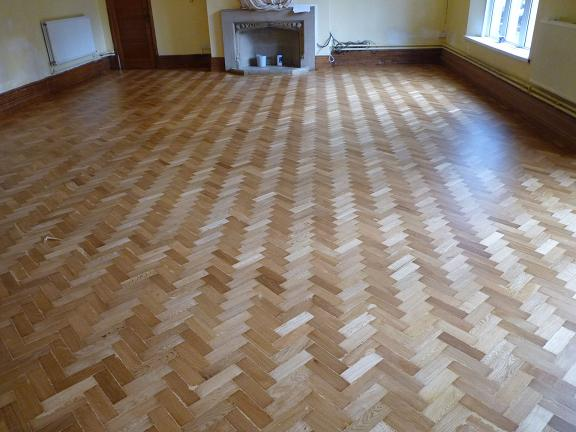 Broadway Lodge in Weston Super Mare after parquet renovation