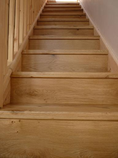 Stairs after clad with Oak