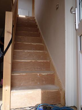 Stairs before cladding with Solid Oak