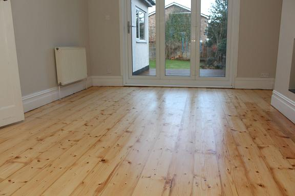 Victorian Pine Floorboards After  renovation